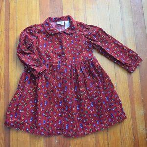 Vintage Hearts & Flowers Button up Dress Size 4T